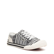 Rocket Dog Jazzin Black White Aloe Stripe Trainer