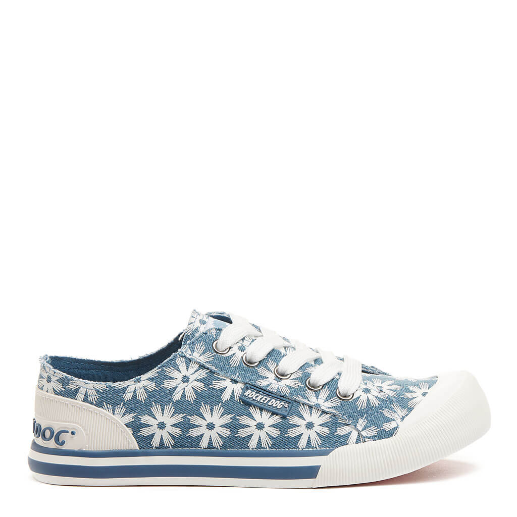 Jazzin Blue Flower Burst Sneaker