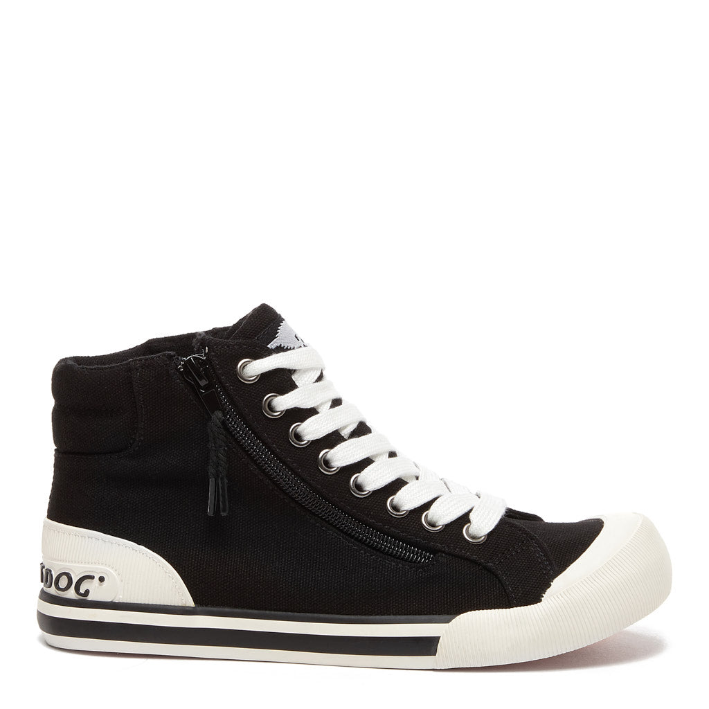 Jazzin Black High Top Sneaker