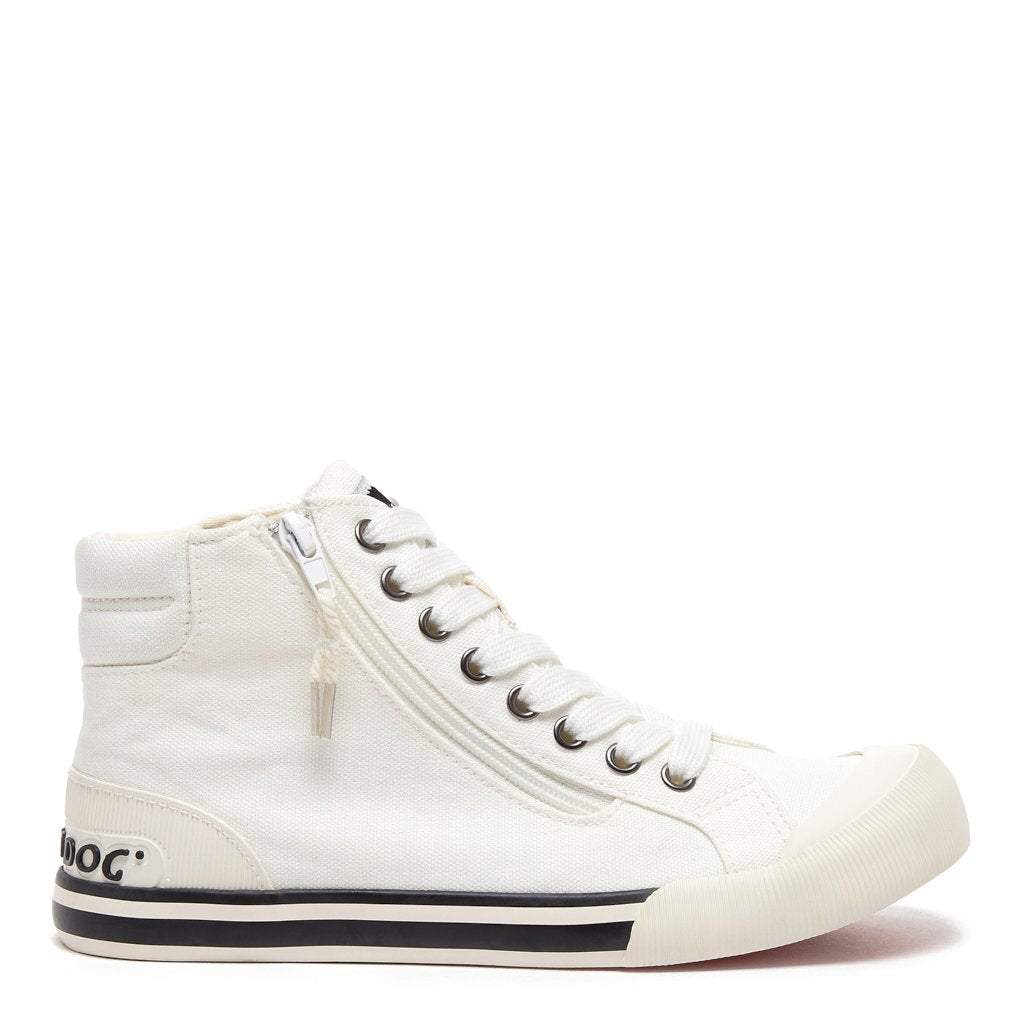 Jazzin White Canvas High-Top Sneaker