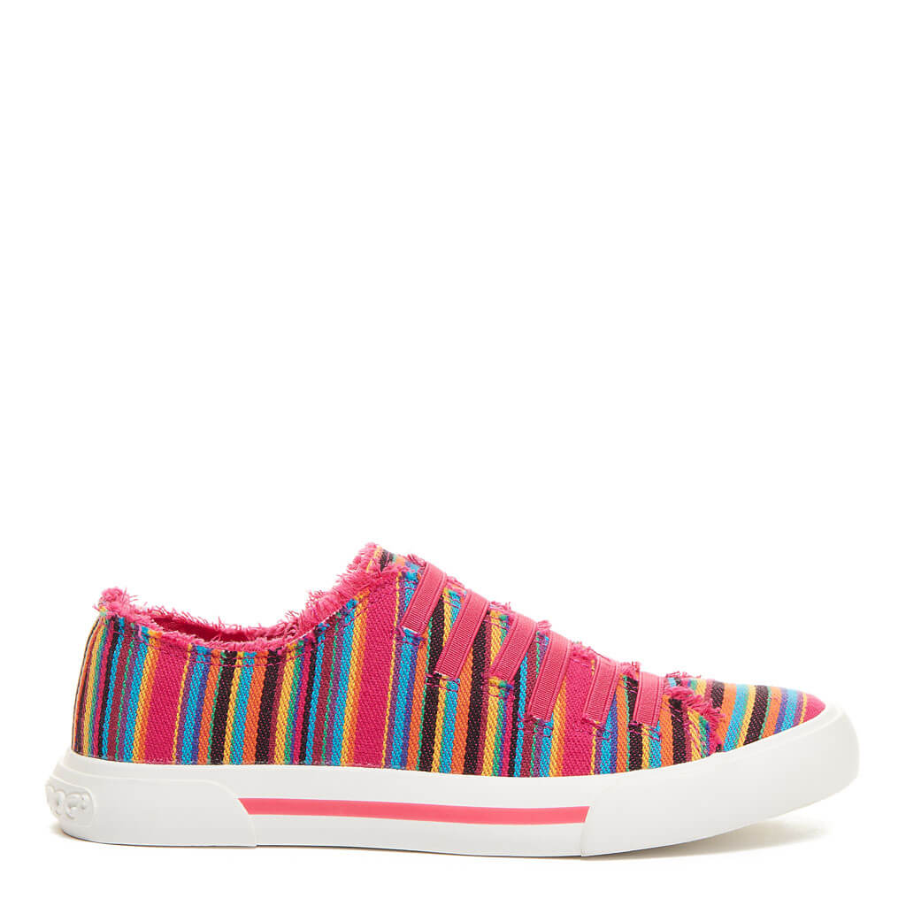 Rocket Dog® Jokes Pink Multi Stripe Slip-On Sneaker