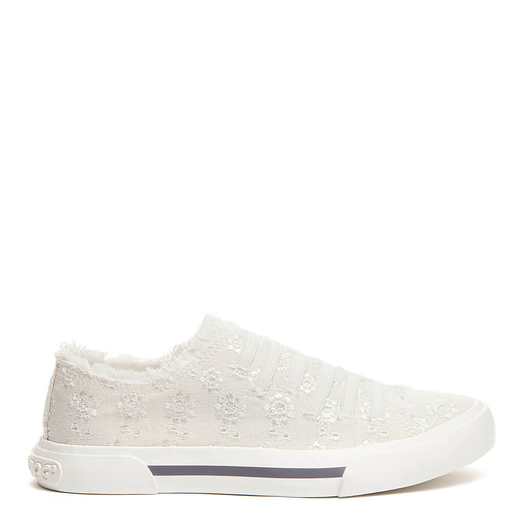 Rocket Dog® Jokes White Eyelet Slip-On Sneaker
