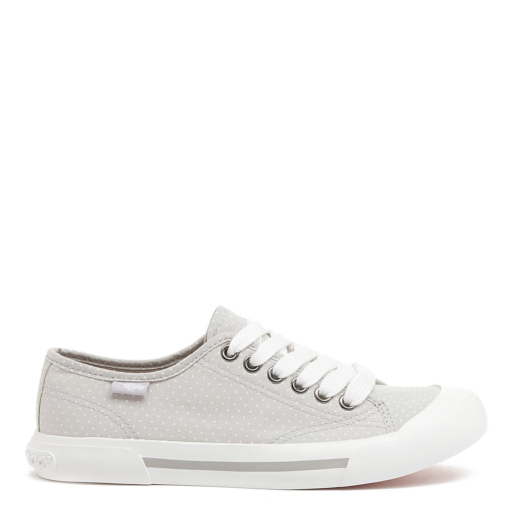 Jumpin Women's Grey Polka Dot Sneaker