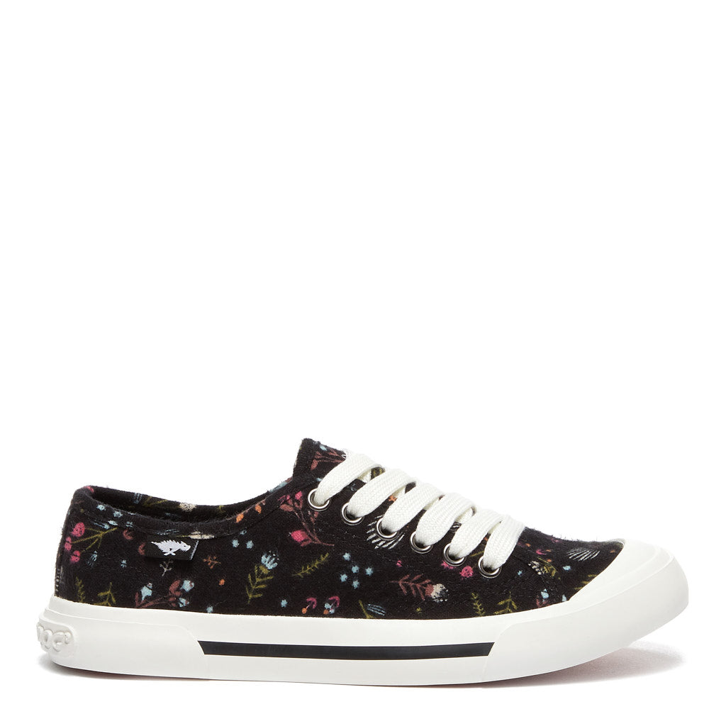 Jumpin Women's Black Floral Sneaker