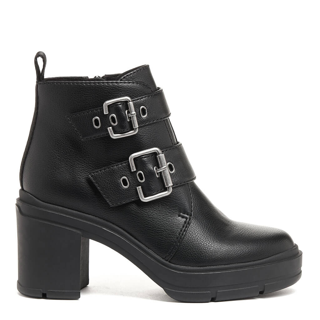 Kamari Black Buckle Boot