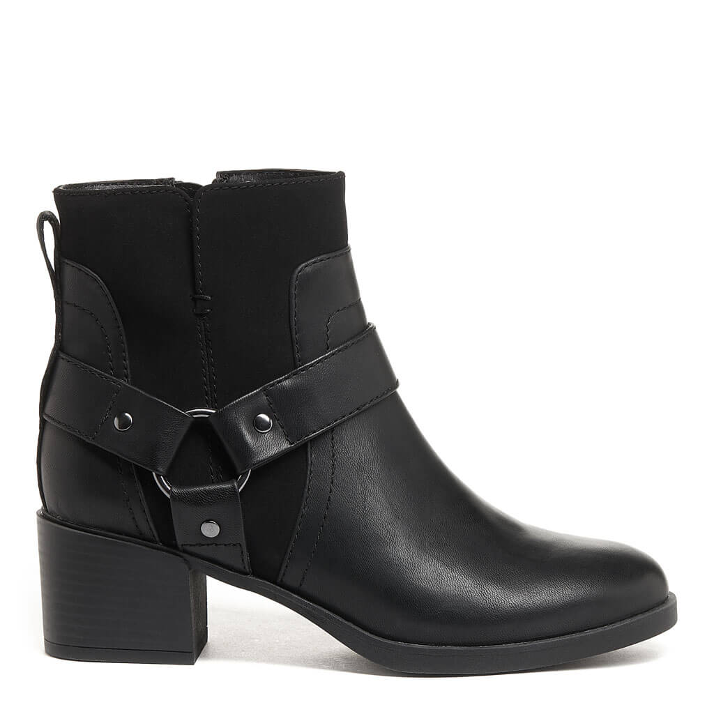 Lex Black Biker Boot