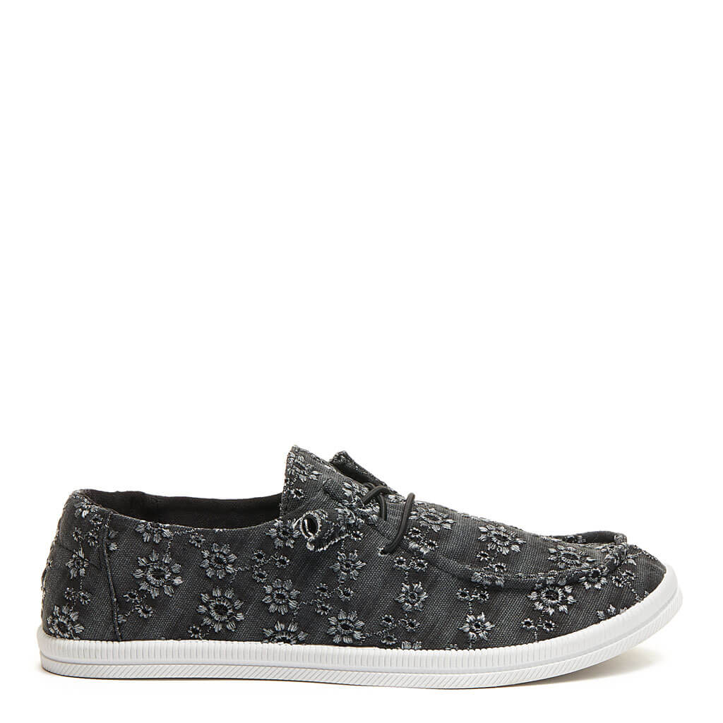 Mellow Black Eyelet Slip On. Shop Women's Sneakers