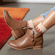 Mila Brown Biker Boot