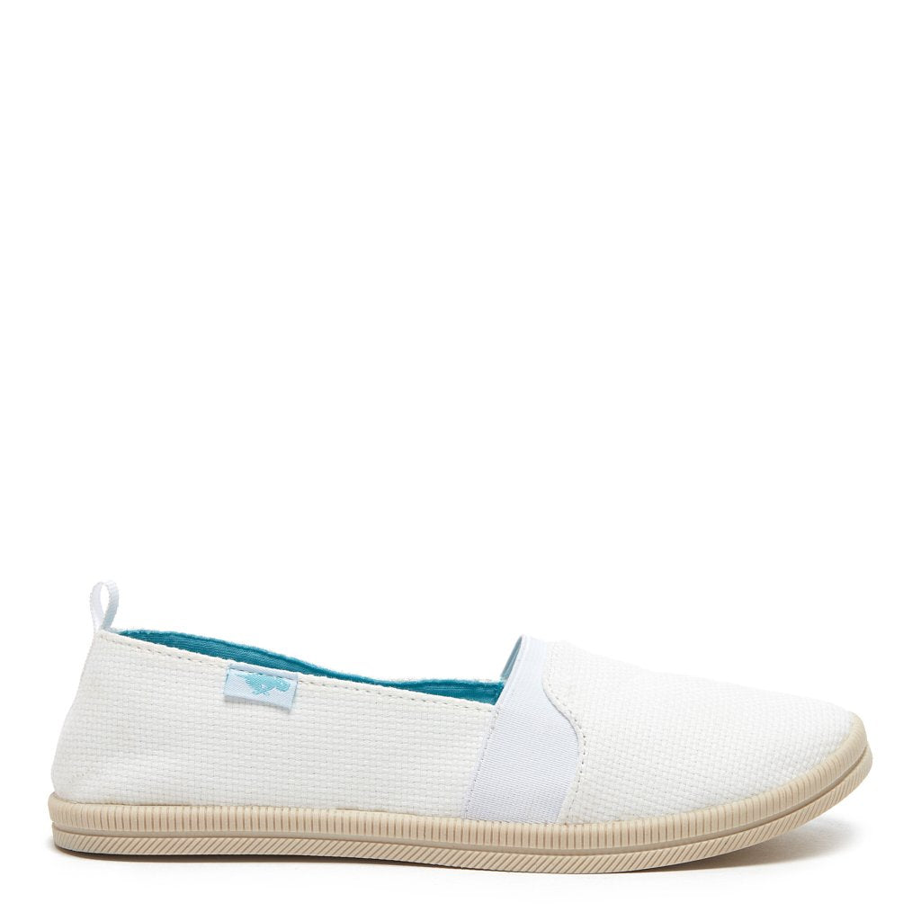 Misa White Slip-on Flat