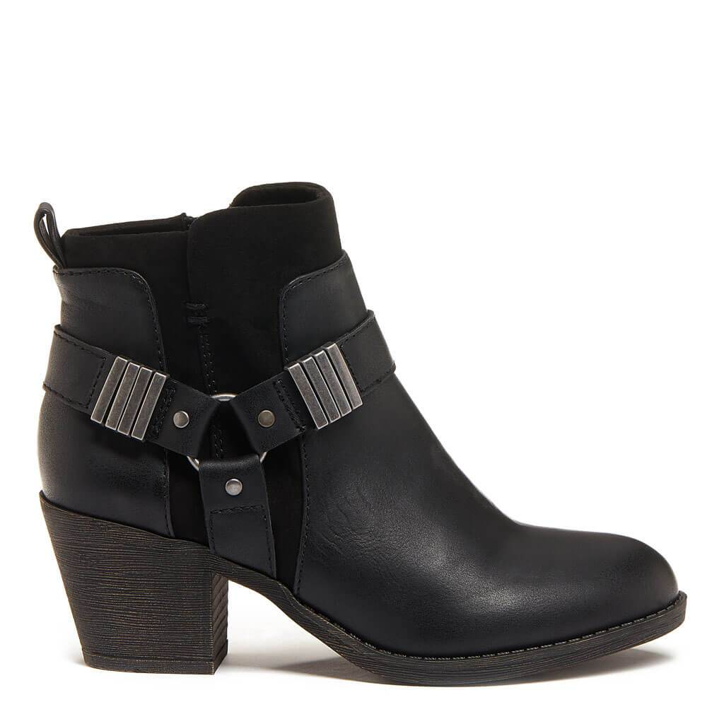 Setty Black Biker Bootie