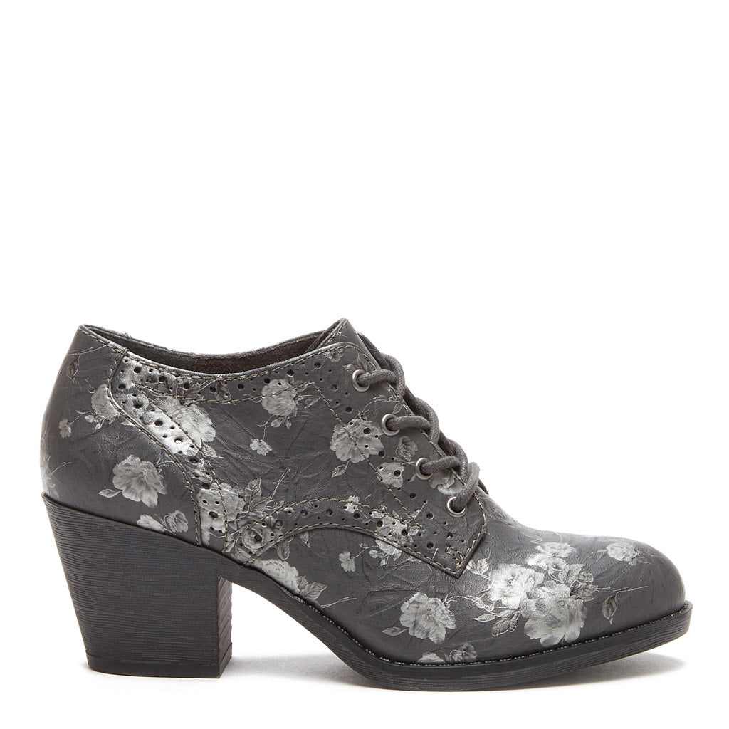 Selina Grey Floral Bootie