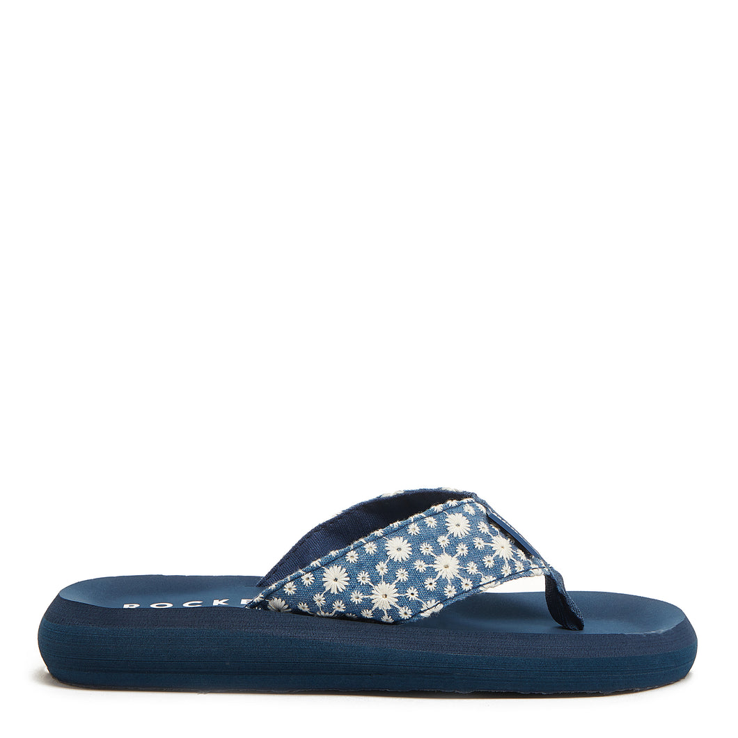 Spotlight Blue Eyelet Bloom Women's Flip-Flop