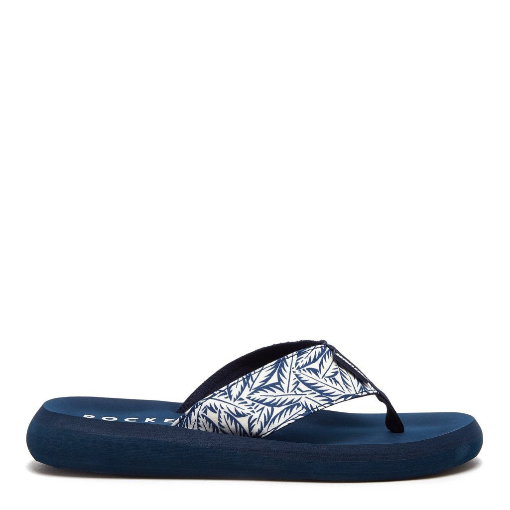 Spotlight Blue Palm Leaf Flip Flop