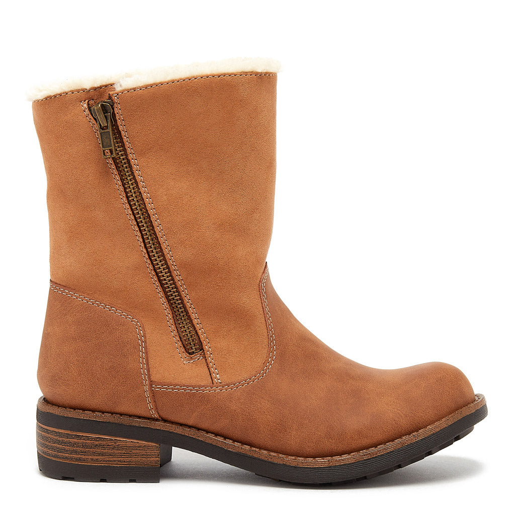 Thalia Tan Zip Boot