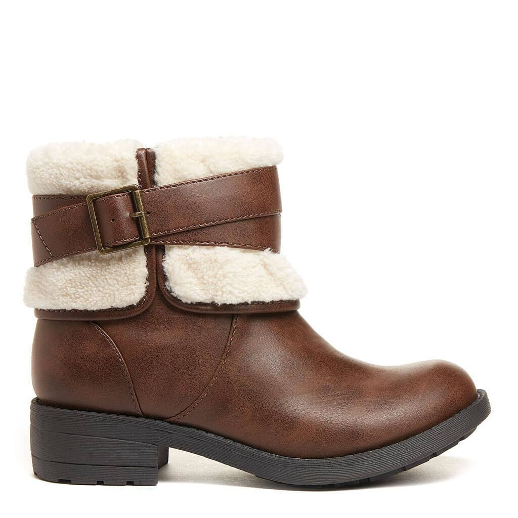 Trepp Brown Shearling Boot