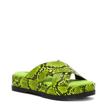 Venus Green/Yellow Snake Sandal