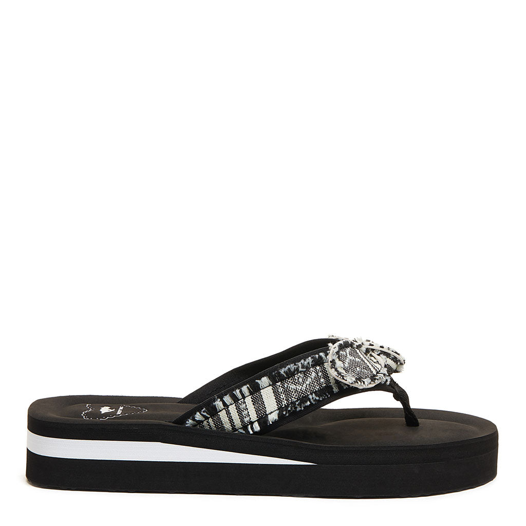 Warley Black and White Flip Flop