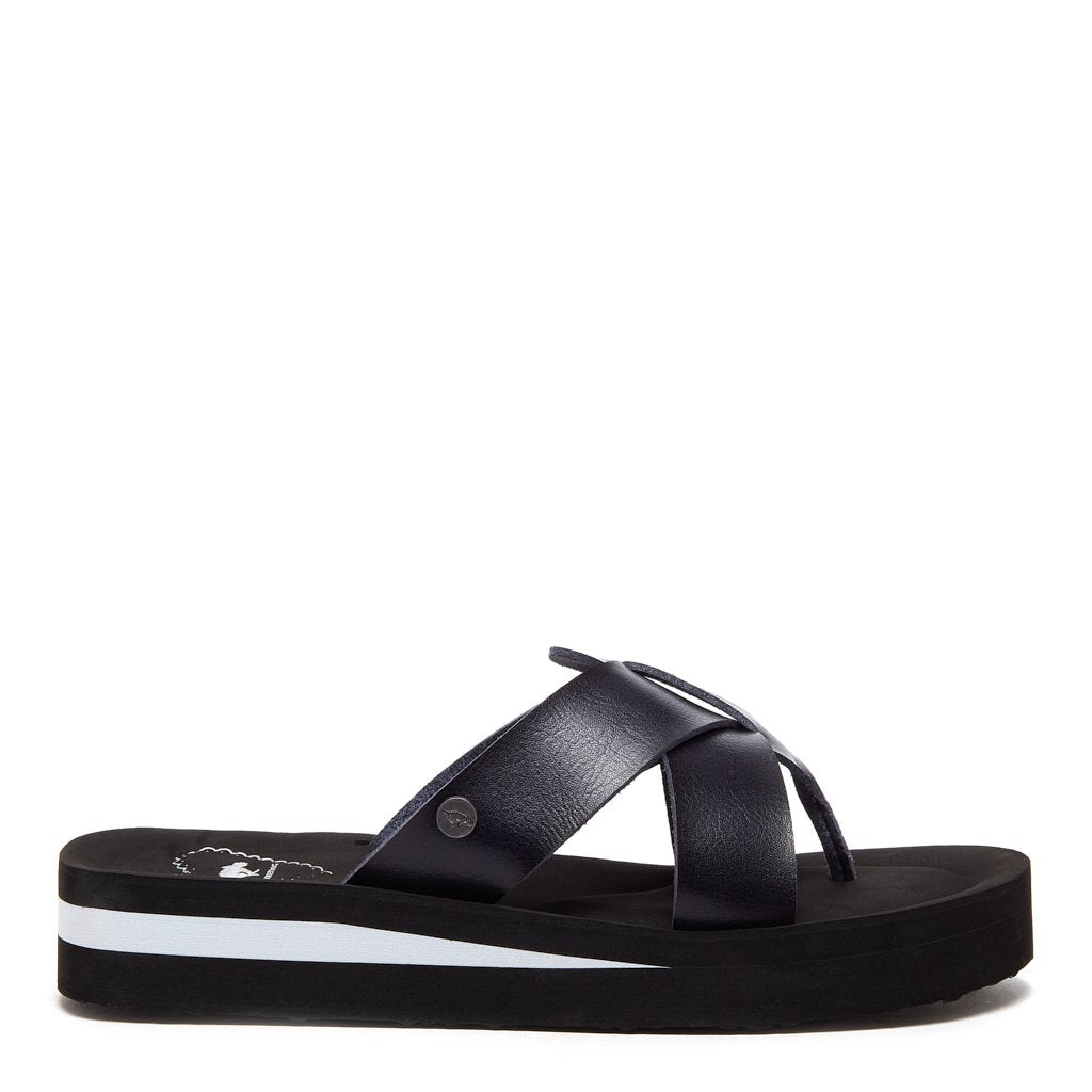 Wilmer Black and White Sandal