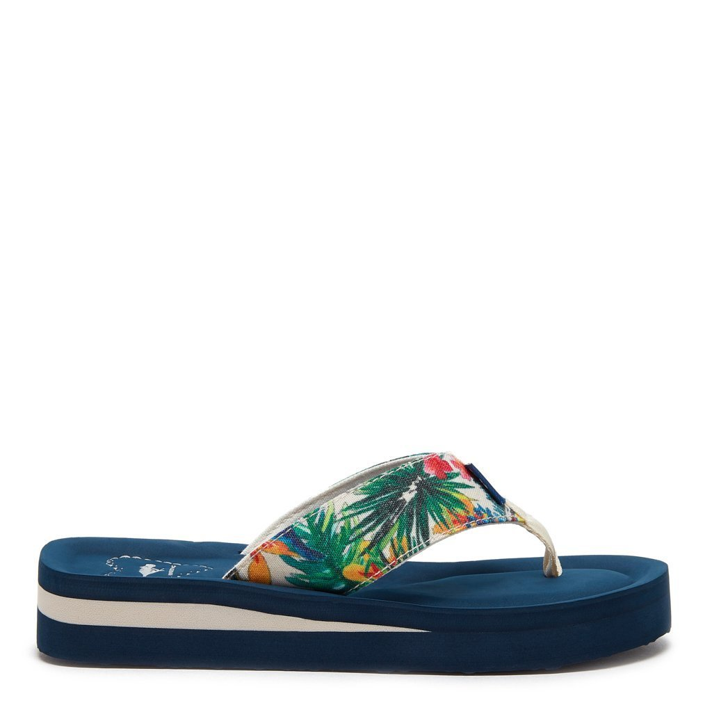 Winner Tropical Print Flip Flop