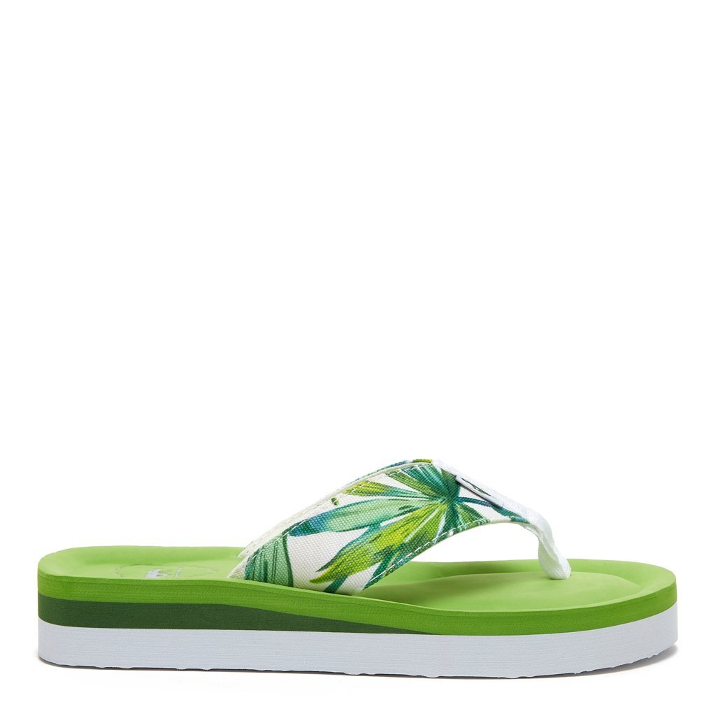Winner Palm Tree Print Flip Flop