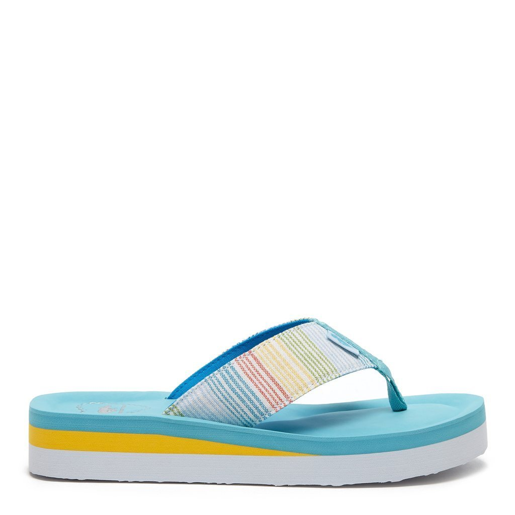 Winner Floral Rainbow Stripe Flip Flop