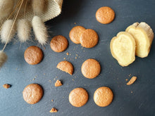 light and crispy ginger cookies made with cashew nuts
