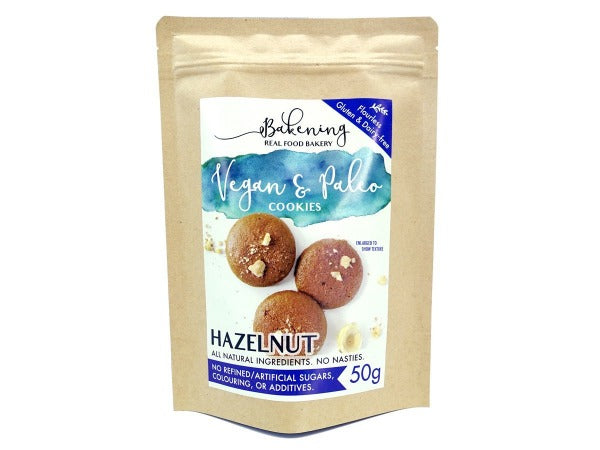 Singapore Vegan and Paleo, eggless gluten and dairy free crunchy hazelnut cookies with no refined sugar