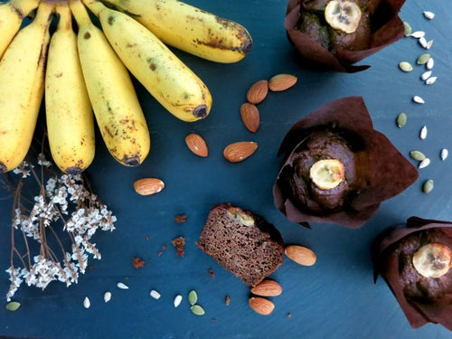 Vegan and Paleo Banana muffins that are gluten and dairy-free