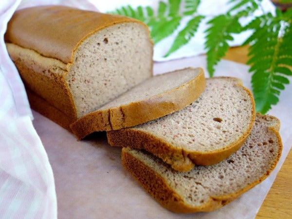 Paleo, gluten and dairy-free bread with no added fat or sugar, and options for low carb high fat diet