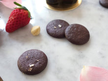 Singapore Vegan and Paleo, eggless gluten and dairy free crunchy chocolate cookies with sea salt flakes, diabetic friendly without refined sugar