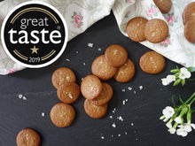gluten and dairy free vegan sea salt cookies made from cashew nuts