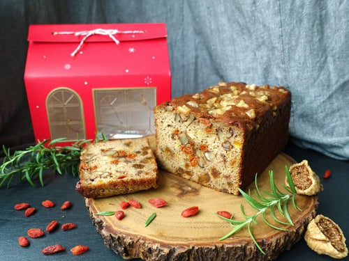 paleo christmas fruit cake with unsulfured apricots and walnuts in singapore