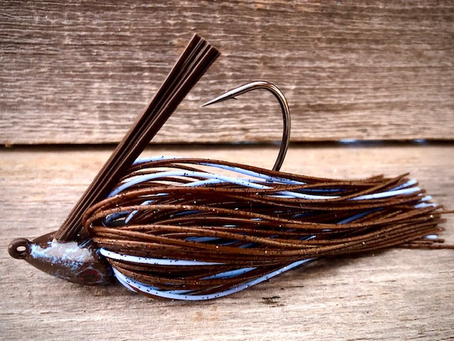 The NEW Brown Jig Series with baby blue Accent