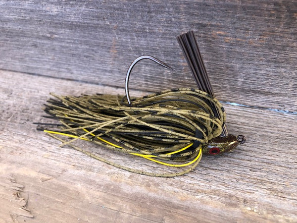 Green Pumpkin Jig Series with Yellow accent