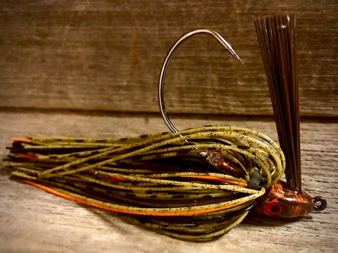 Green Pumpkin Jig Series with Orange Accent