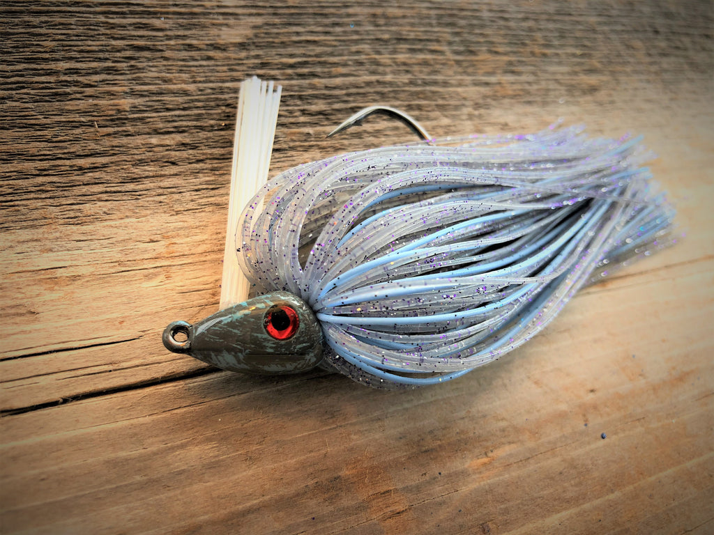 Clear Shad with Baby Blue 1/2oz. Swim Jig