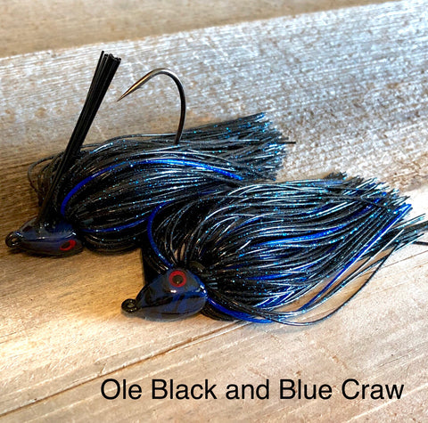 #7 Ole Black & Blue Swim Jig