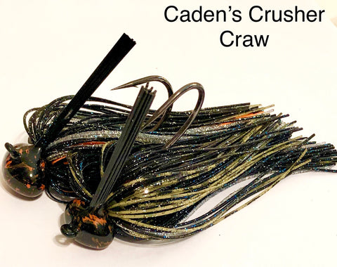 #20 - 3/4 oz Caden's Crusher Craw Custom Football Jigs