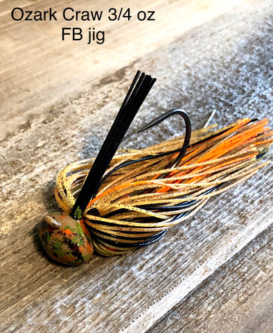 #23 - 3/4 oz Ozark Craw Custom Football Jigs