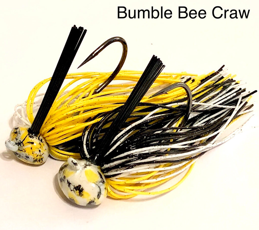 #21 - 3/4oz Bumble Bee Craw Custom Football Jigs