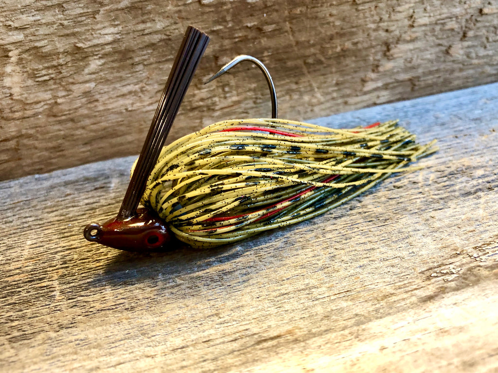 Green Pumpkin Series Jig with Red Accent