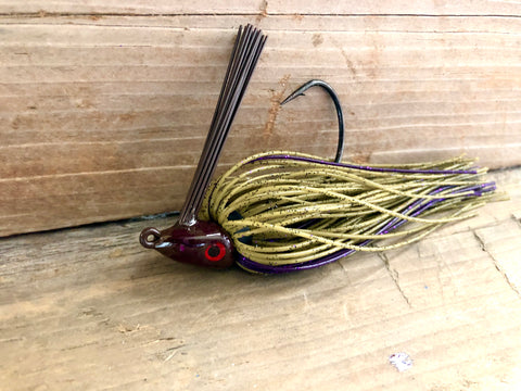 Green Pumpkin Jig Series with Purple accent
