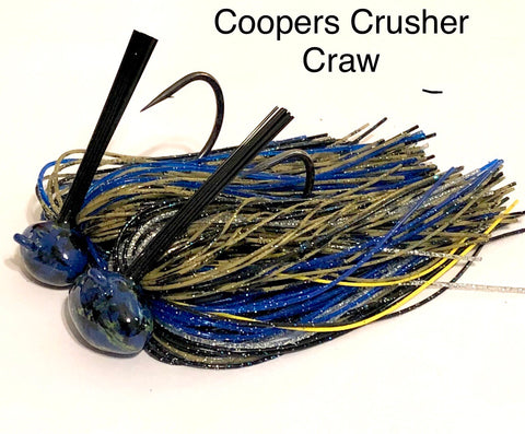 #22 - 3/4 oz Coopers Shiner Craw Custom Football Jigs