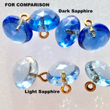 "Dark Sapphire Vintage Clear Faceted Glass 3/8"" #GL350 Blue"