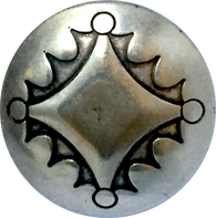 "Concho Button Silver Four Directions 1"" #SW-70"