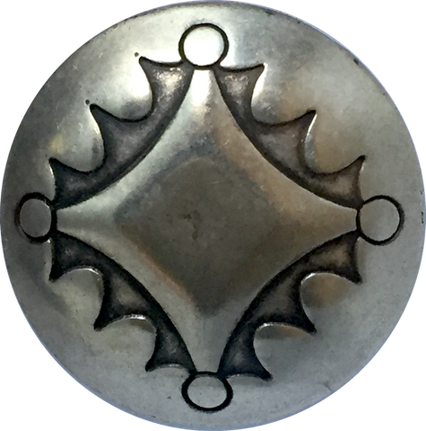 "Four Directions Large Silver 1.25"" Concho Button #SW-46"