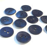"Indigo/Navy Velvet Agoya Shell 5/8"" 2-hole Button, Pack of 8 for $7.20   #1209"