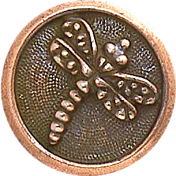"Dragonfly Round Button 5/8"" Copper, from TierraCast"