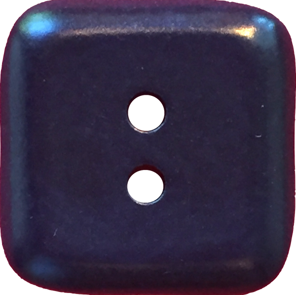 Dark Navy Tagua Vegetable Ivory Rounded Square Corozo 2-hole, Blue, 2 sizes