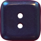 Dark Navy Rounded Square Corozo 2-hole, Blue, 2 sizes